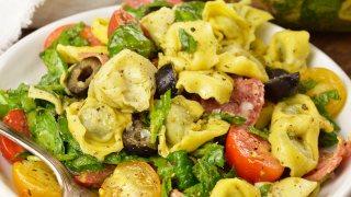 Spinach Tortellini Italian Pasta Salad Recipe