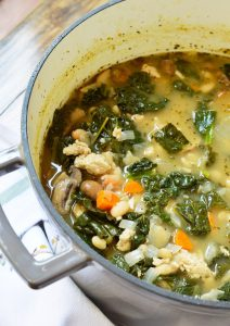 Meal planning just got easier with this Vegetable Turkey Soup dinner recipe. Lean turkey, fresh kale, carrots and mushrooms make this hearty meal nutritious and tasty!