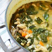 White Bean Vegetable Turkey Soup