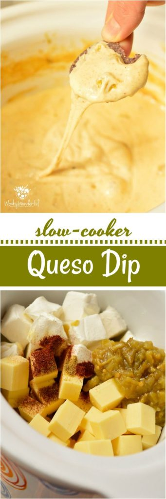 Get game day started with this Easy White Queso Dip Recipe and a fantastic snack variety! Just a few simple ingredients in your slow cooker and this crock pot appetizer is good to go. Get out of the kitchen and enjoy the game with this no-fuss game day food!