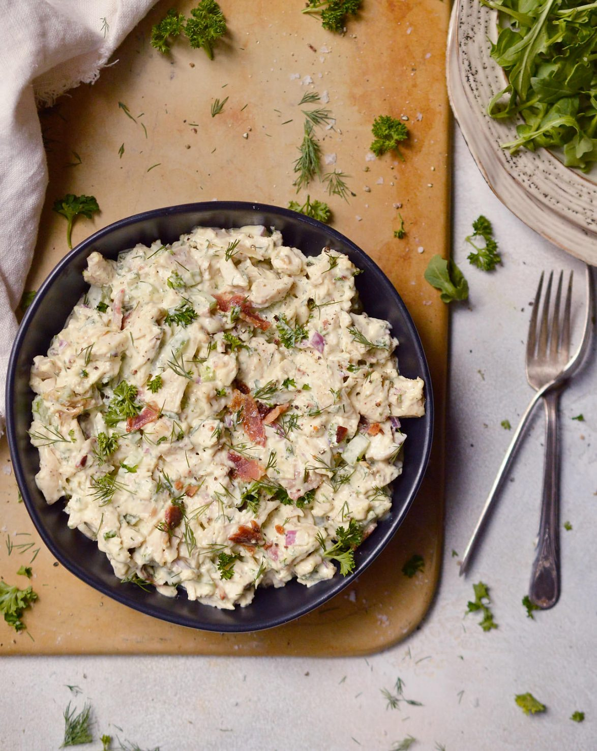 Bacon Ranch Chicken Salad Whole30 Paleo Wonkywonderful