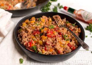 Cajun Dirty Rice (Gluten Free, Grain Free, Dairy Free, Whole30, Paleo, Vegan Options)