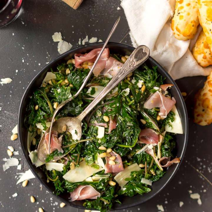 Lemon Kale Salad with Prosciutto and Parmesan