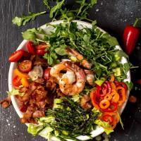 Sheet Pan Roasted Asparagus, Shrimp and Bacon with Lemon Pepper Sauce