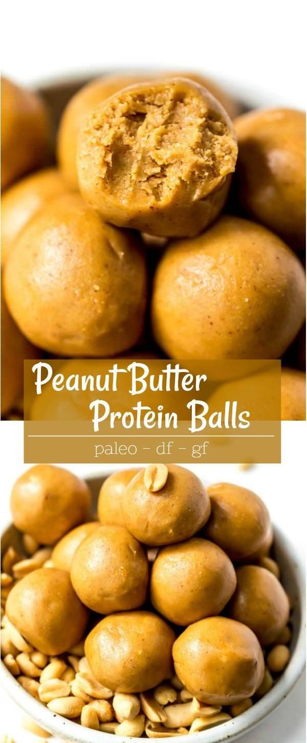 peanut butter protein balls recipe photos