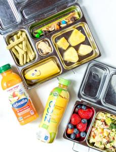 easy lunch ideas packed into metal bento lunch boxes