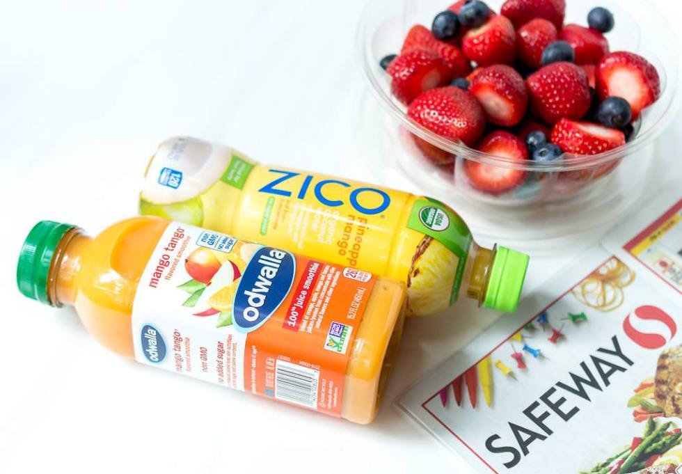 zico and odwalla beverages from safeway for easy lunch ideas