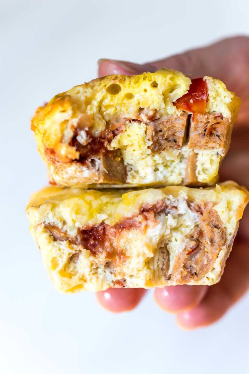 two mini frittata muffins for healthy breakfast ideas