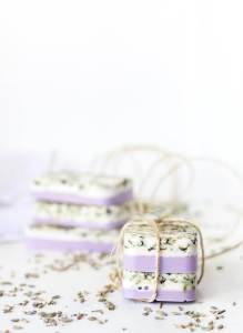 handmade lavender soap tied with twine