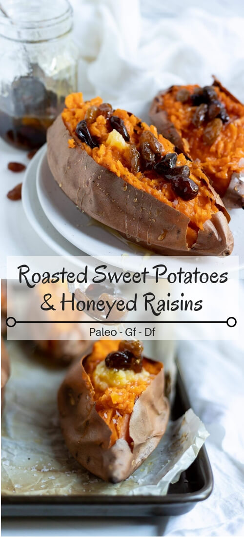 roasted sweet potatoes photo collage