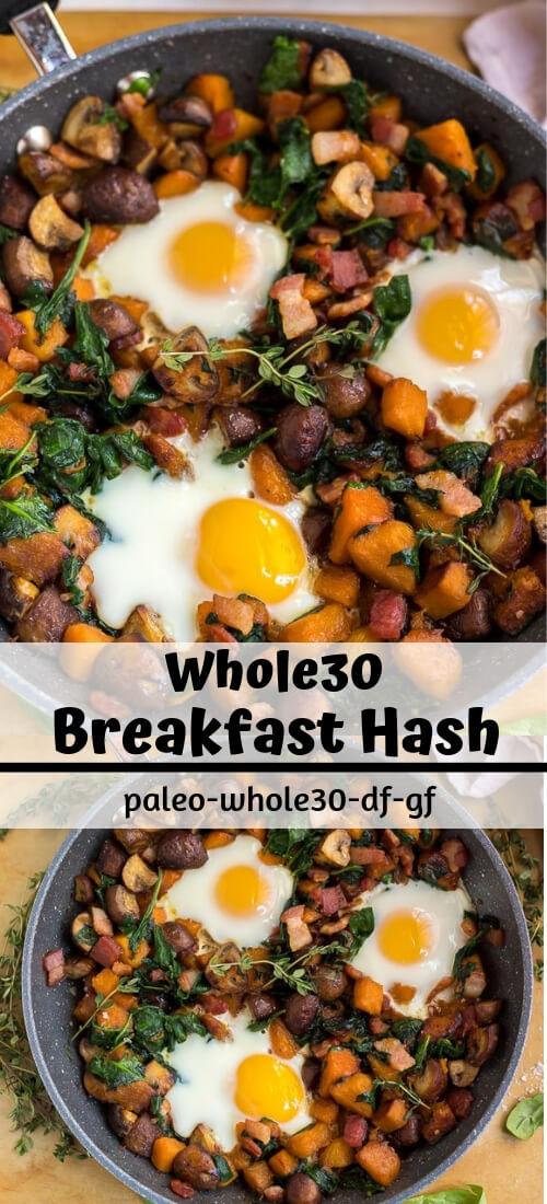 Whole 30 Breakfast Hash Recipe photo collage