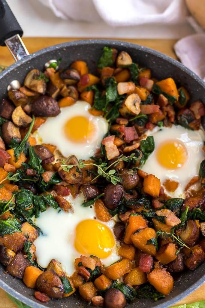 Fried eggs in Whole 30 Breakfast Hash Recipe