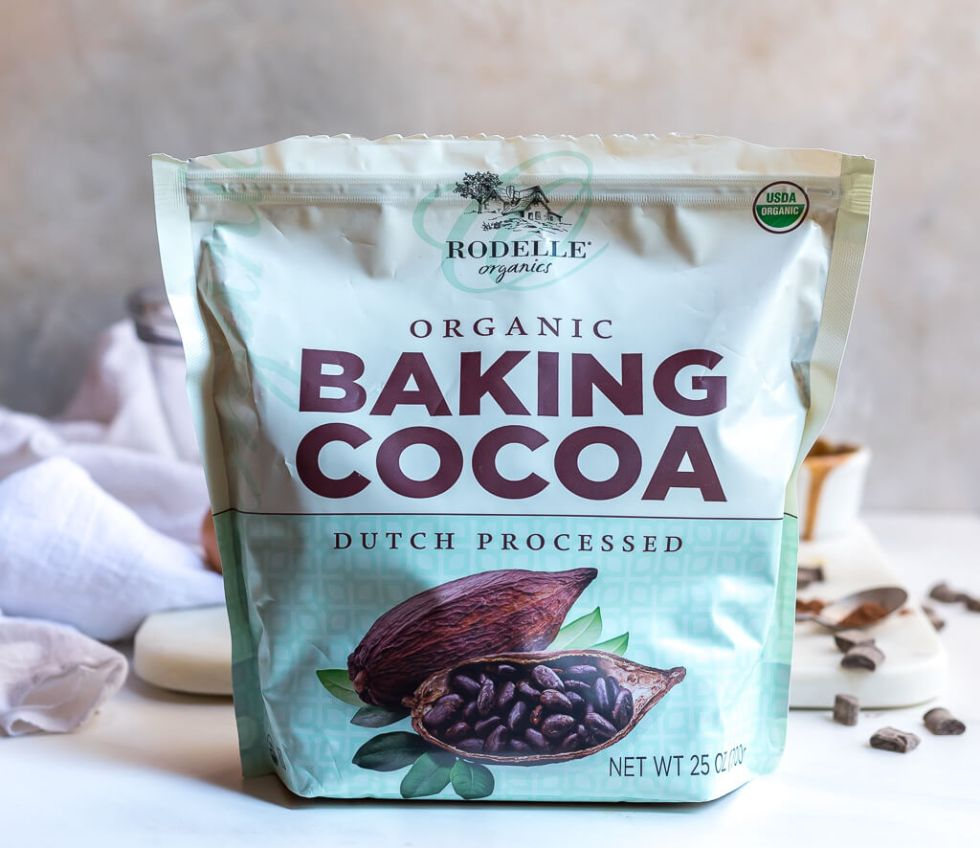 bag of organic baking cocoa