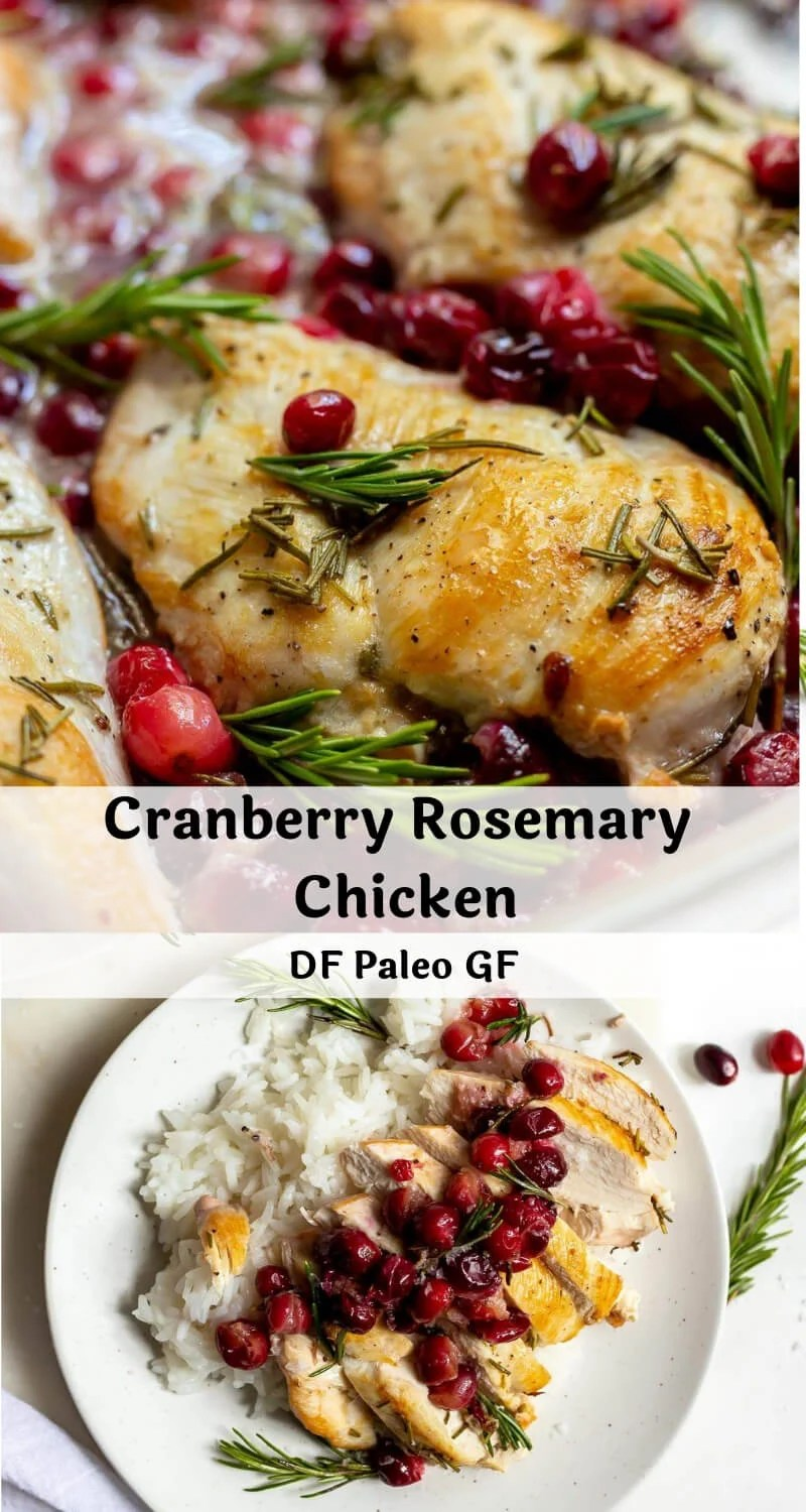 cranberry rosemary chicken photo collage