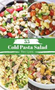 55 cold pasta salad recipes photo collage