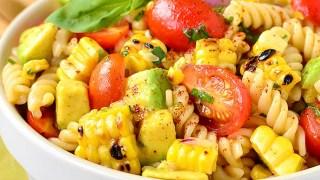 Grilled Corn and Avocado Pasta Salad