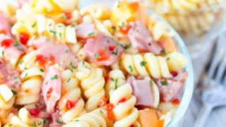 Ham and Cheese Pasta Salad - No Mayonnaise