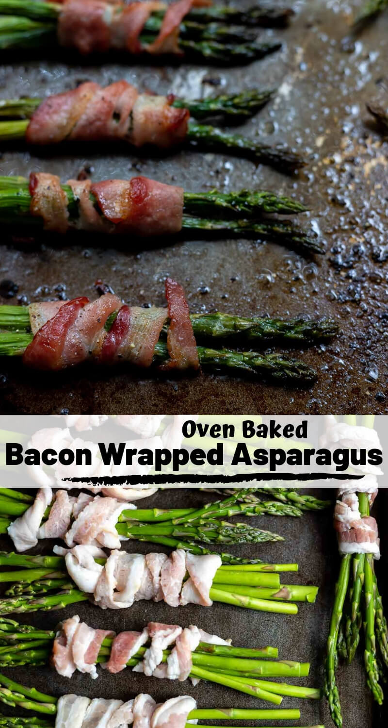 bacon wrapped asparagus recipe photo collage