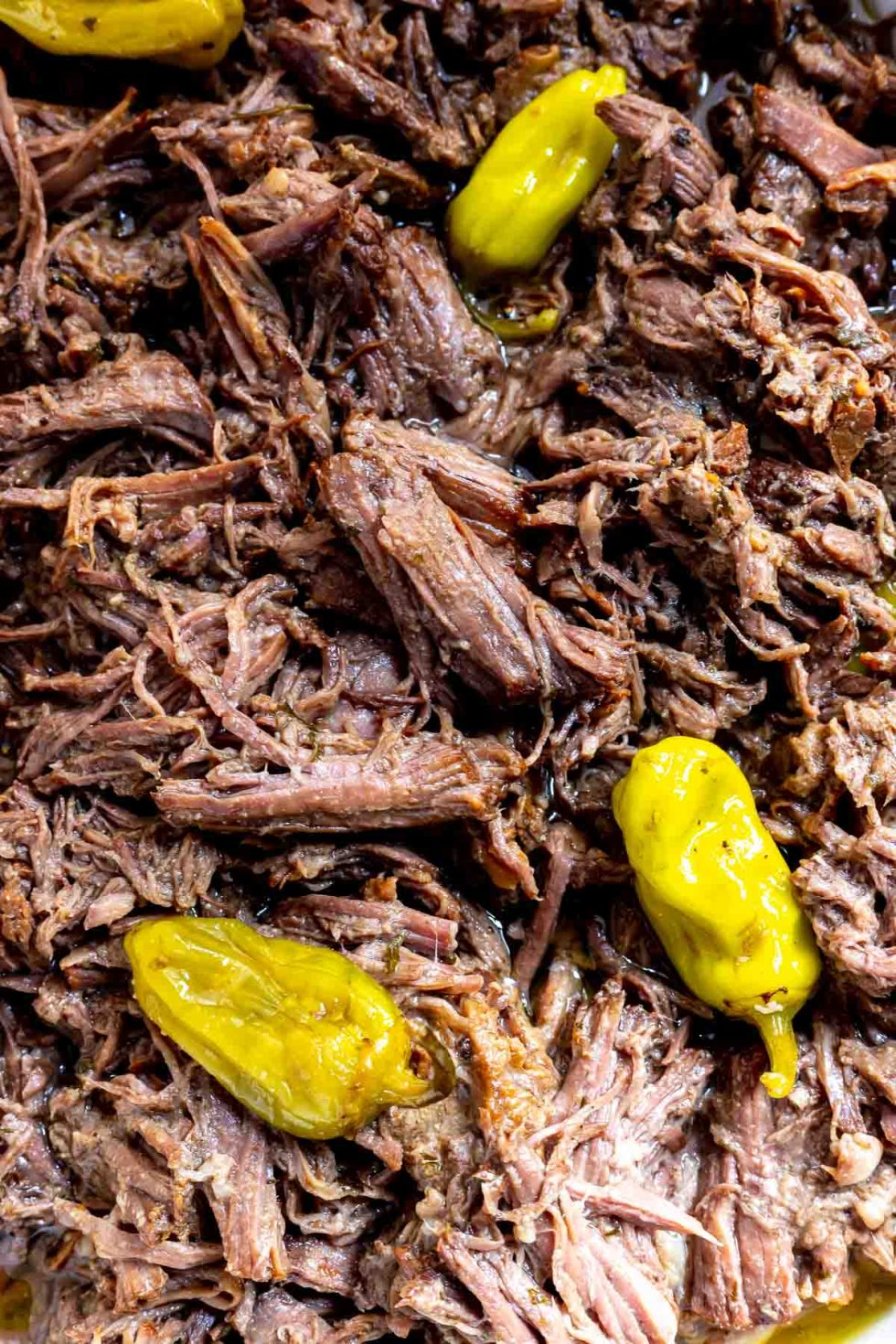 tender shredded beef pot roast with pepperoncinis