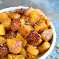 Oven Roasted Butternut Squash Brown Sugar