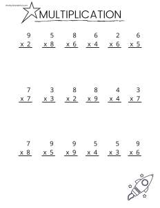 first page of multiplication packet