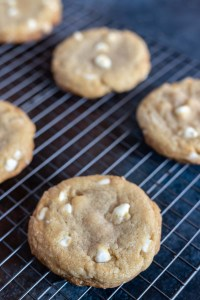 baked cookies on wire cooling rack