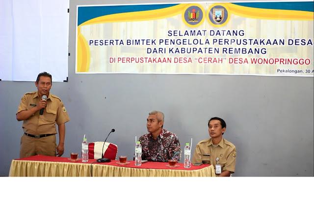 "Study Banding Pengelola Perpustakaan Desa Se-Kabupaten Rembang di Perpusdes ""Cerah"" Desa Wonopringgo"