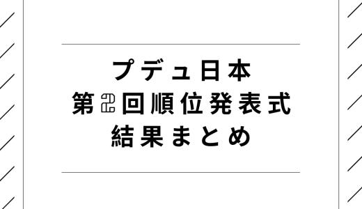プデュ日本|第2回順位発表式の結果まとめ!生存者と脱落者は?