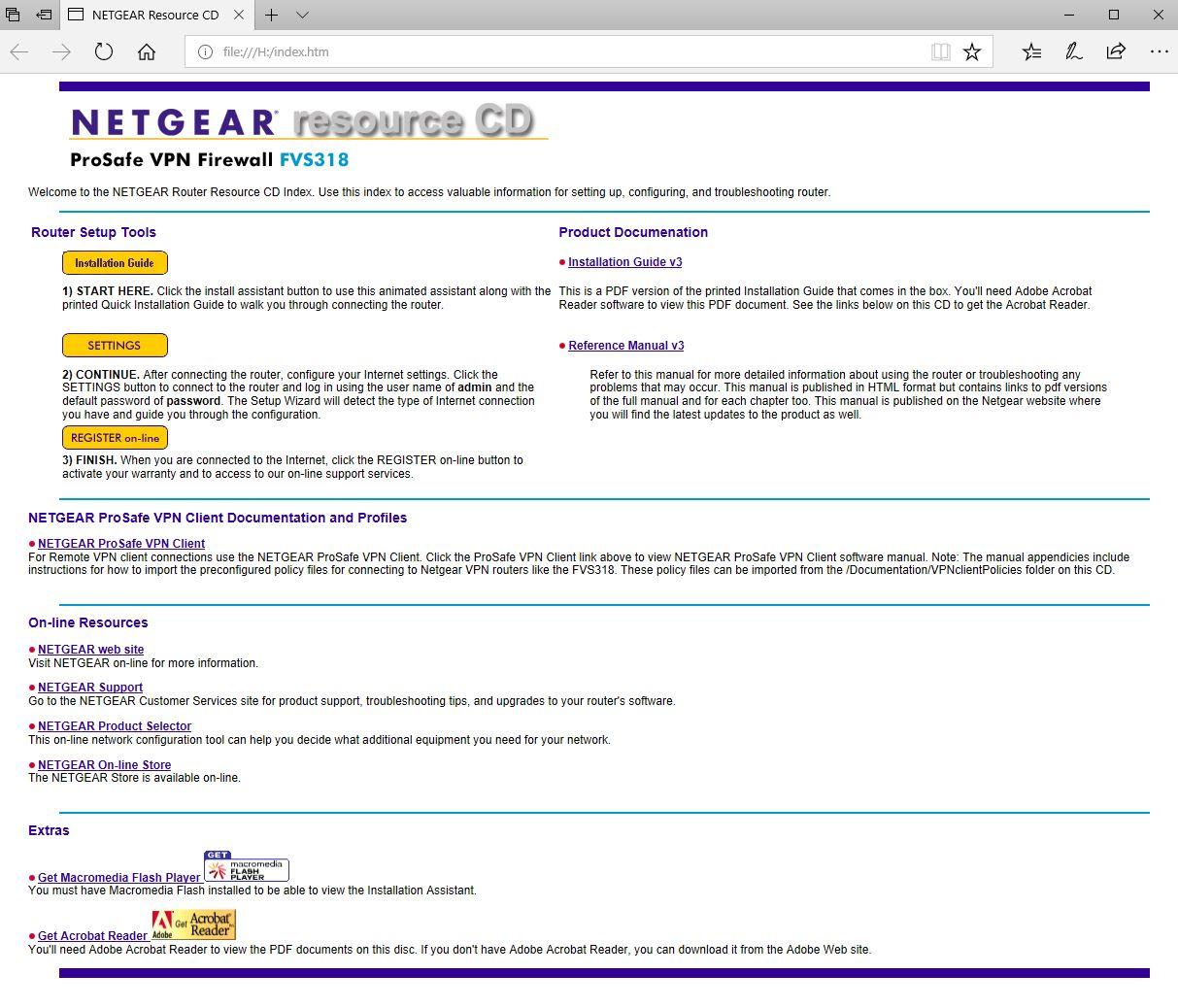 ISO Image of Netgear FVS318v3 Support CD