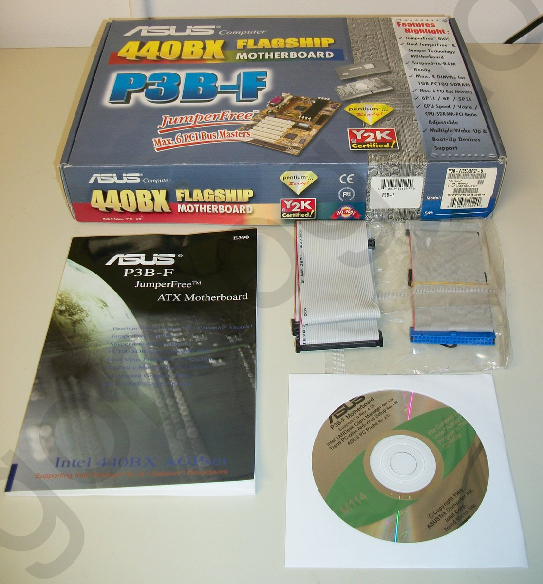Iso image of original driver cd disc for asus p3b-f 440bx flagship.
