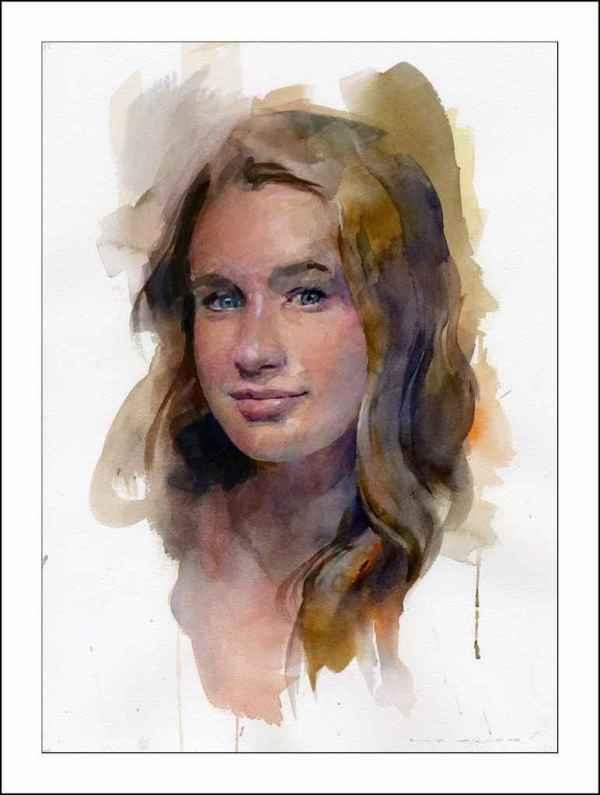 Watercolor Paintings American Artist Stan Miller
