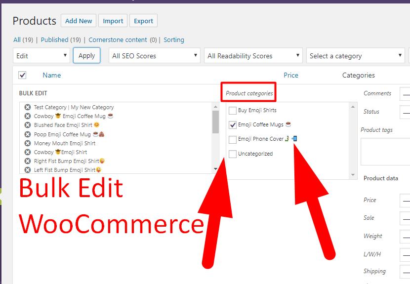 Help Bulk Edit WooCommerce Products