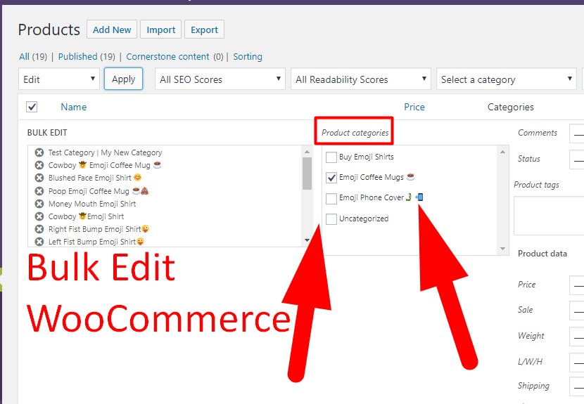 Help Bulk Edit WooCommerce Products