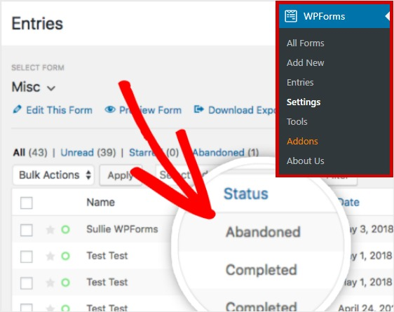 Forms Plugin for WordPress Follow Up with Abandoned Visits