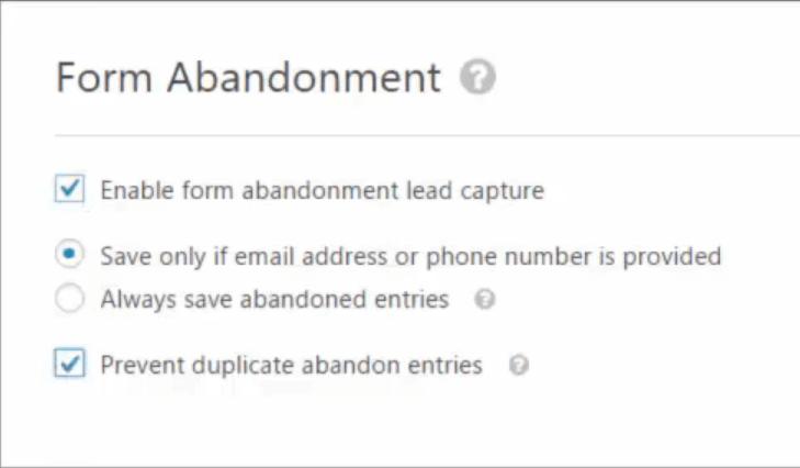 Form Builder WordPress Plugin WPForms Form Anbandonment Toggle