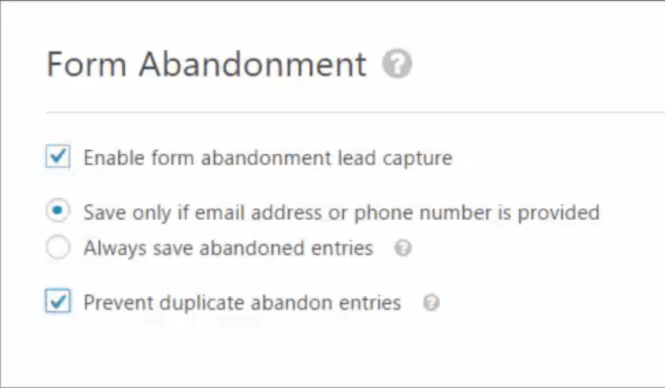Form Builder WordPress Plugin WPForms Form Anbandonment Toggle