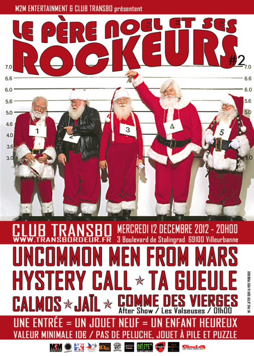 Le Père Noël et ses rockeurs