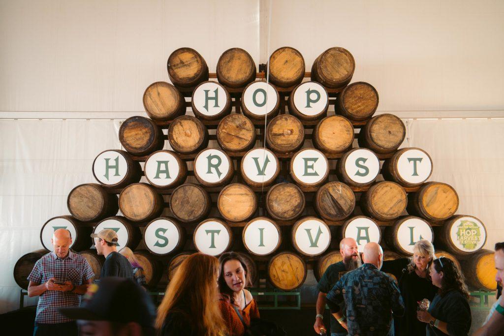 Hops Harvest Festival Barrels- Eco travel - Green Destination