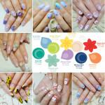 ♥ 2013春季時尚流行色彩。春天光療指甲作品