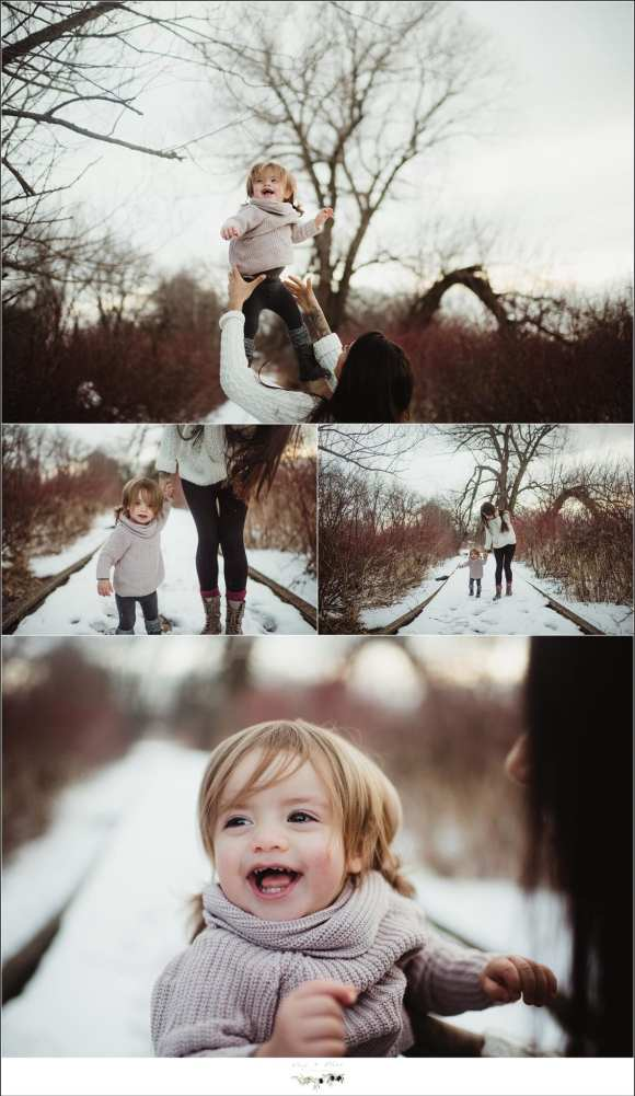 Family Session in the snow