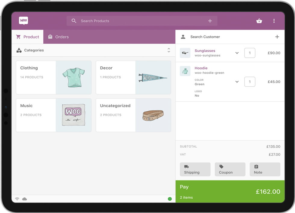 Product preview of POS application