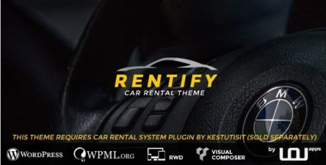 Rentify - Car Rental WordPress Theme