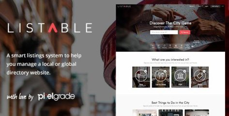 LISTABLE - A Friendly Directory WordPress Theme