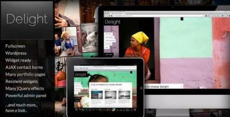 Delight Fullscreen WordPress Portfolio Theme