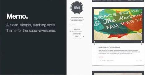 Memo - Tumblog Style WordPress Theme