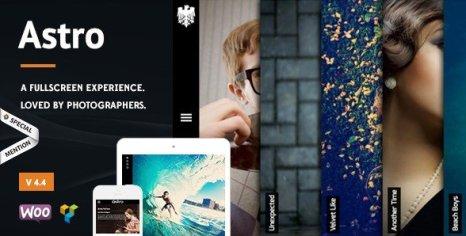 Astro - Showcase/Photography WordPress Theme
