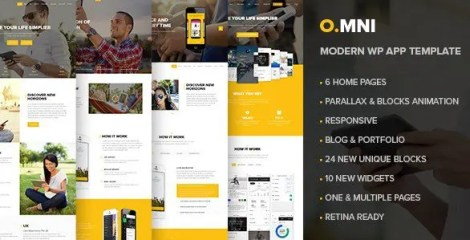 Omni - Stylish Powerful One Page WP Theme