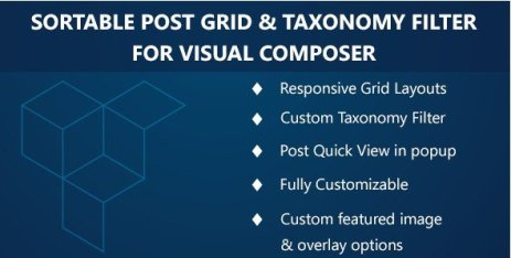 Visual Composer - Sortable Grid & TaxonomyFilter