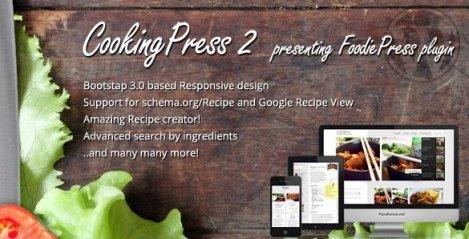CookingPress - Recipe & Food WordPress Theme