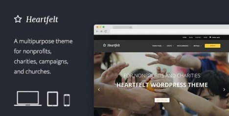 Heartfelt - Humanitarian Responsive WordPress Theme